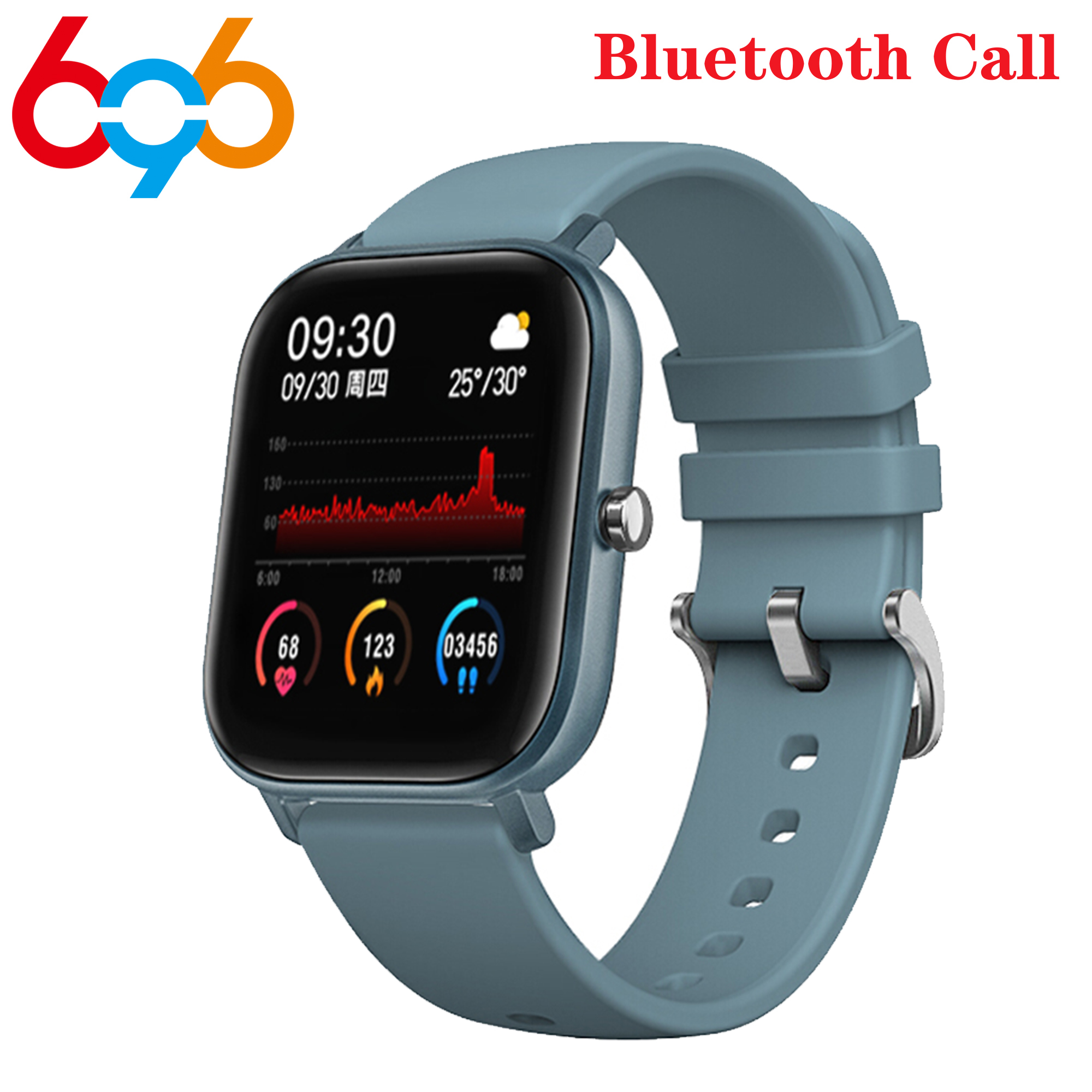 P9 1.4 Inch Smart Watch Men Full Touch Fitness Tracker Blood Pressure Smart Clock Women P8 GTS Smartwatch For Android IOS
