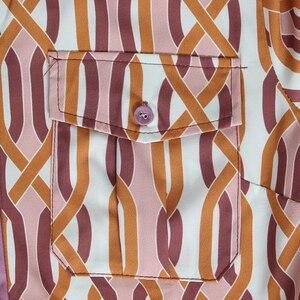 Image 5 - CHICEVER Vintage Womens Suit Lapel Collar Lace Up Lantern Sleeves Shirt High Waist Sashes Long Pants 2 Piece Set Female 2019