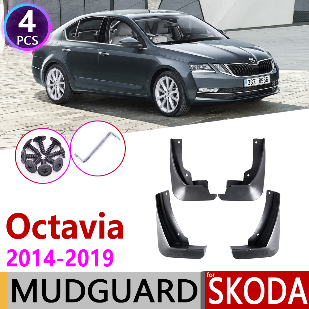 Mudflap For Skoda Octavia 3 Sedan MK3 A7 5E 2014~2019 Fender Mud Guard Splash Flaps Mudguard Accessories Mudguard 2015 2016 2017