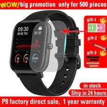 P8 relógio inteligente masculino 1.4 polegada toque completo smartwatch fitness rastreador pressão arterial pulseira de fitness relógio inteligente feminino smartwatch.