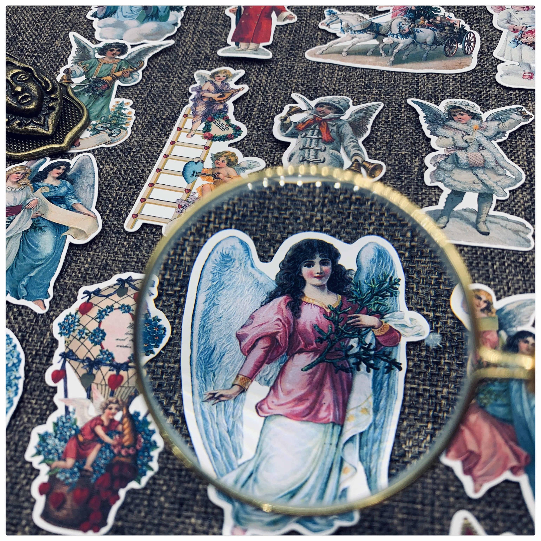 25pcs ספר קישוט TN רטרו בציר מלאך מדבקות בצבעי מים kawaii מדבקת חבילה bullet כתב עת ספקי
