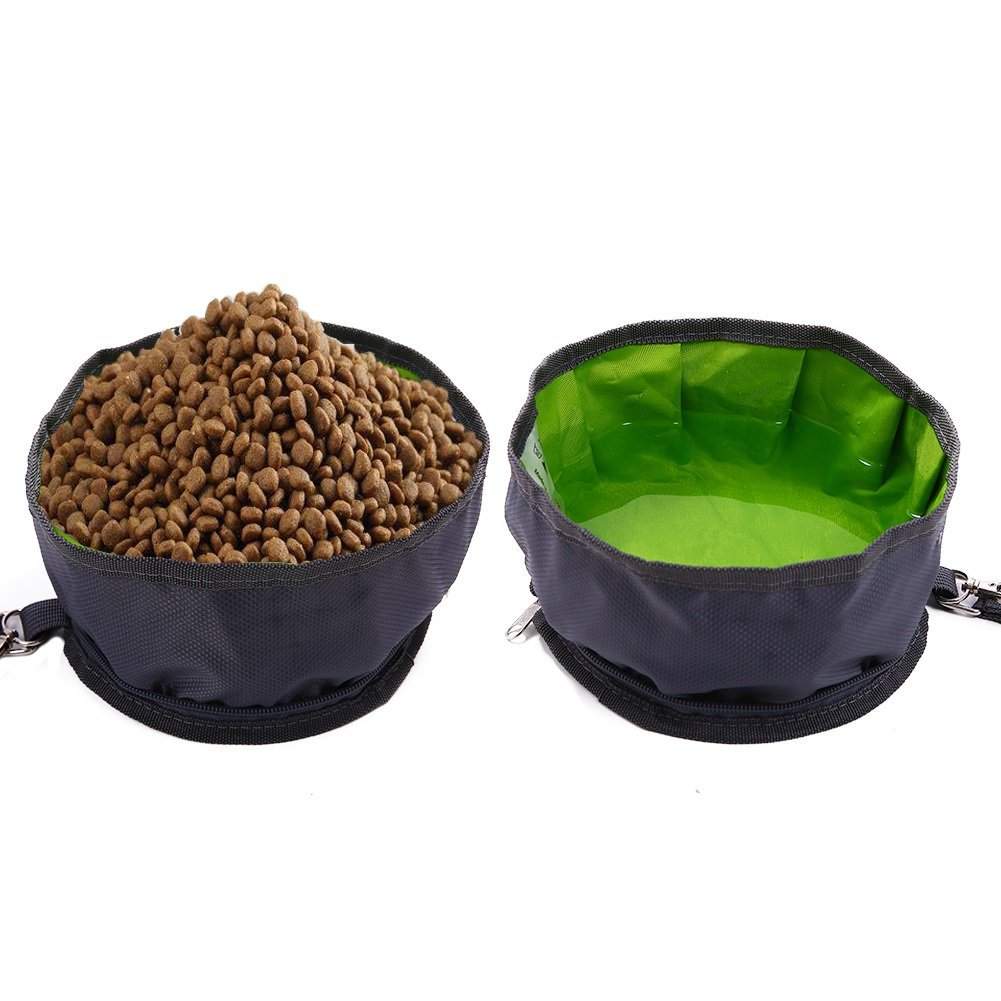 New Style Pet Supplies Dog Bowl Foldable Outdoor Portable Fabric Dog Feeder Water Bowl 2019 Pet New Products