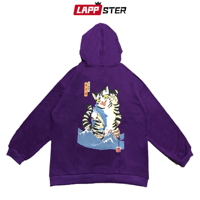 Funny Cat Hooded Hoodies