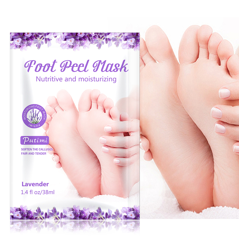 PUTIMI 3Pack Lavender Foot Mask Foot Dead Skin Removal Feet Mask For Pedicure Socks Nourishing Exfoliation Foot Mask Care