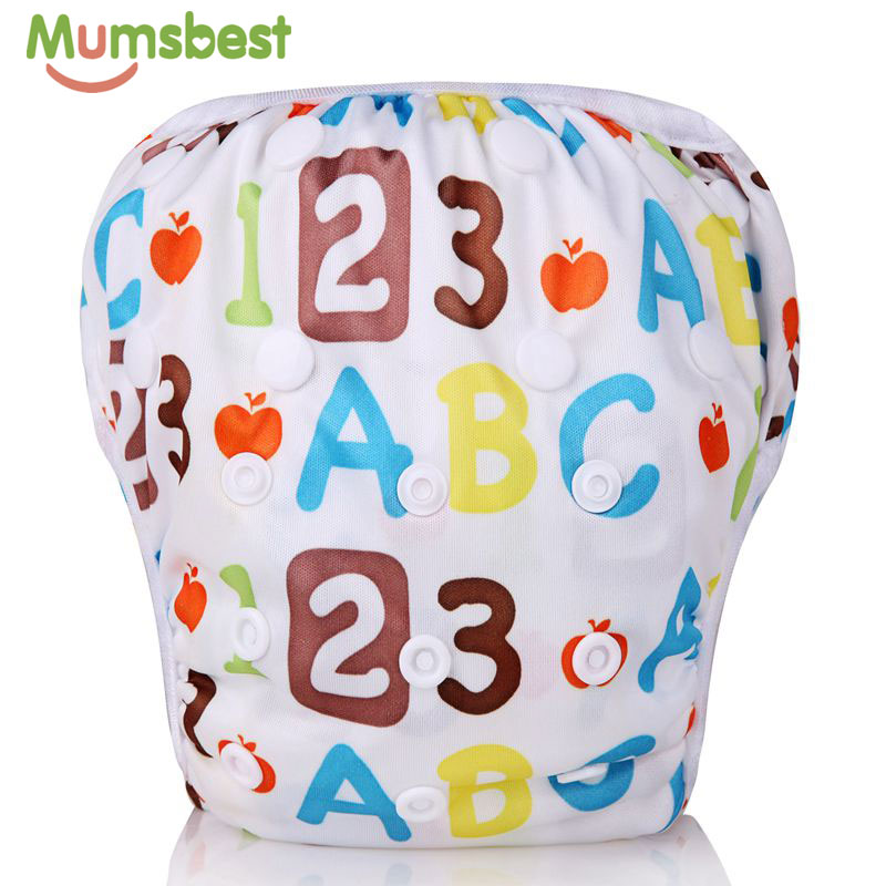 [Mumsbest] Baby Swim Diapers Reusable Adjustable Washable Nappies Pool Pant Swim Waterproof Cloth Cover Suit For Baby 3 - 15kg
