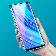 Magnetic Adsorption Case for Realme X2 Pro Double Sided Tempered Glass Full Protect Case Realme X Lite Q X2 Luxury phone case