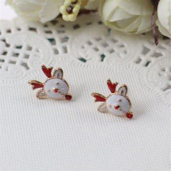 Łoś bożonarodzeniowy kobiety Ear-Ring luksusowe wisiorki na uszy Alloy Lady Ear Stud modne dziewczyny Ear Stud damska biżuteria na prezent tanie i dobre opinie STAINLESS STEEL CN (pochodzenie) FAIRY Klasyczny Metal fashion earrings Śruba-powrót