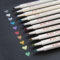 10 цветов STA Fineliner металлический маркер ручка лайнер войлочные ручки список кистей Дневник для рисования школьные канцелярские товары для ру...