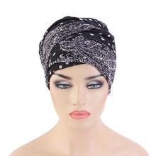 Головной платок bohimina из вуали с принтом головной для женщин