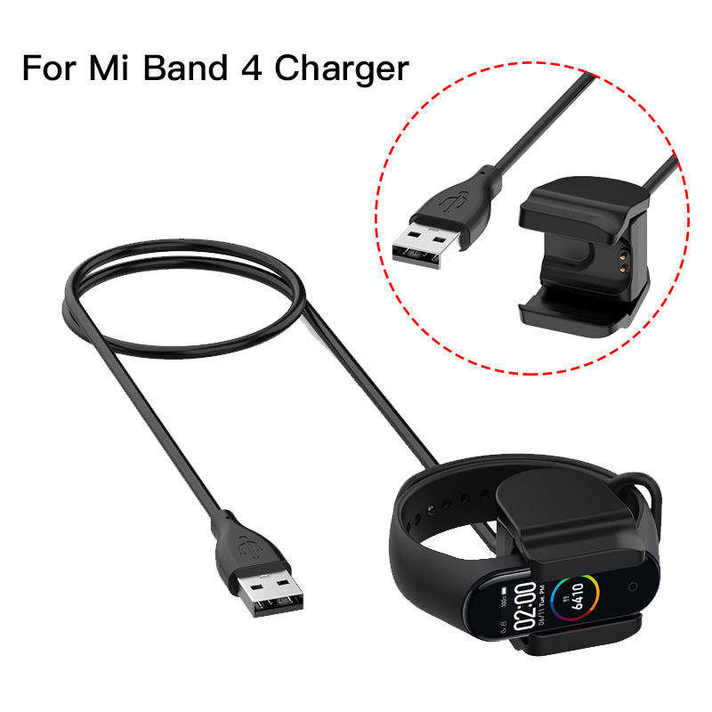 Mi Band 4 Charger Cable Clip USB Charging Adapter For Xiaomi Mi Band 4 Fast Charger Bracelet Data Cable Adapter 30CM/100CM