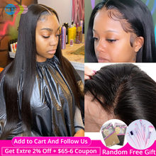 360 Lace Frontal Wig Pre Plucked With Baby Hair Straight Human Hair Wigs For Black Women Brazilian Wig Remy Hair 150% BY Hair(China)