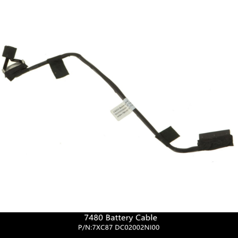 New For Dell  Latitude 7480 Battery Cable - Cable Only - 7XC87 07XC87 DC02002NI00  W/ 1 Year Warranty