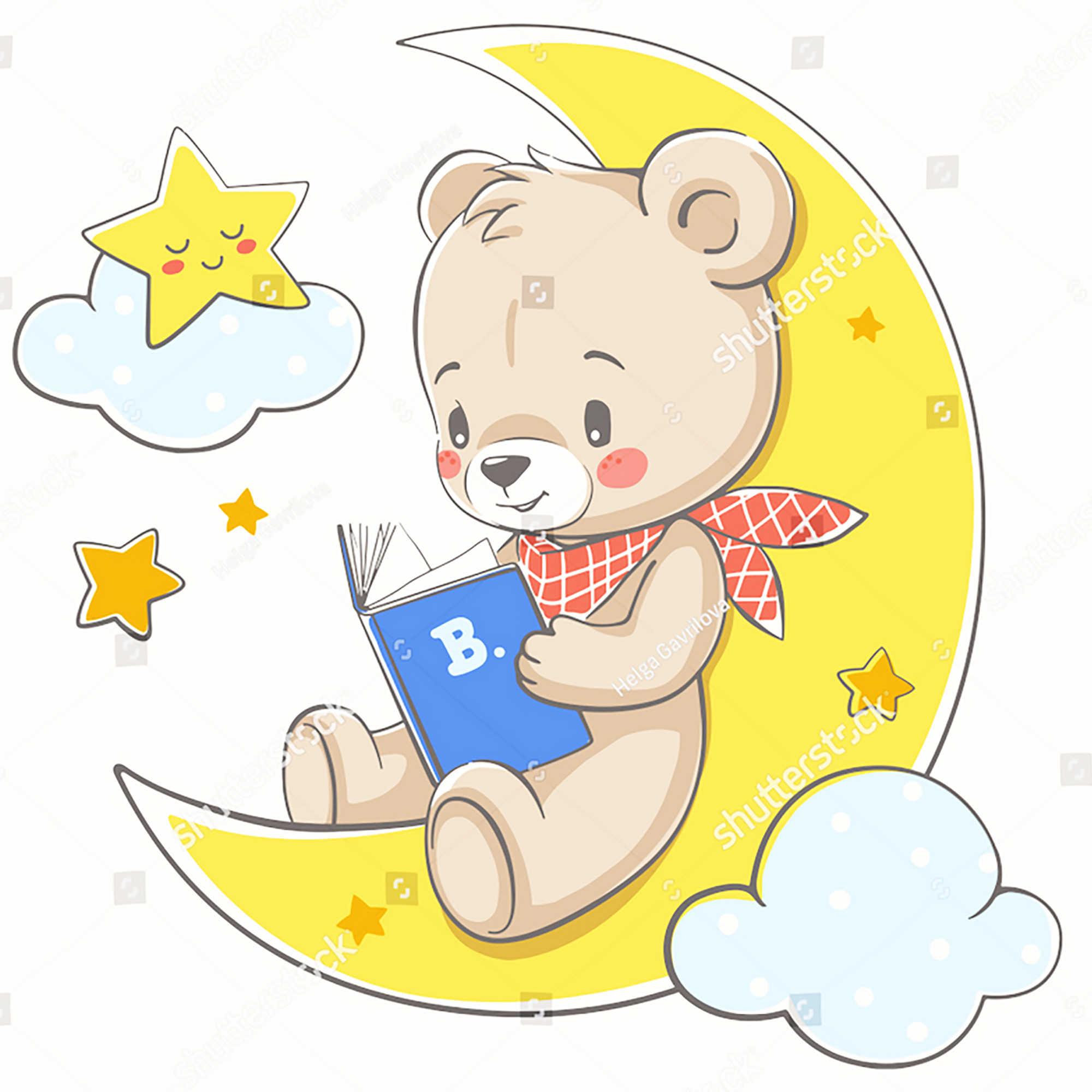 Фото Moon Animal Doll Dies звезда для чтения медведь металлическая резка Скрапбукинг DIY
