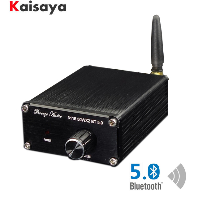 TPA3116D2 Bluetooth 5.0 Amplifier Audio Board Qcc3003 50W*2 Digital Power Amplifier 2.0 Channel Stereo Amp DC8 25V T0745