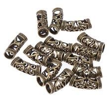 15PCS Hair Braid Pins Ring Dreadlocks Beads Cuff Clip For DIY Hair Extension
