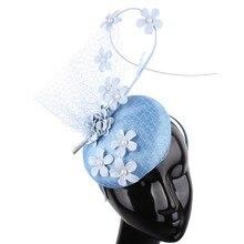 Высокое качество, 4 слоя, красивая свадебная вуаль sinamay, Вуалетка, шляпа, заколка для волос для невесты, Свадебный сетчатый головной убор, Дамский Дерби, головной убор
