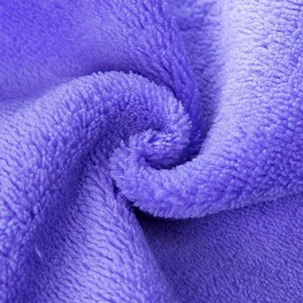 Mặt Cười Bếp Treo Khăn Dễ Thương Kẹo Màu Nhung San Hô Mềm Mại Khăn Thấm Hút Lót Không Vải Dishcloths