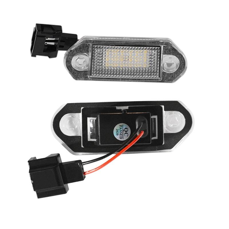 1 пара Светодиодный автомобильного номерного знака светильник лампы для VW Golf MK3 для Skoda Octavia I авто подсветка номерных знаков Запчасти