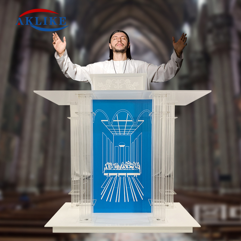 Church Pulpit Stand Smart Podiums Direct  Modern Church Pulpitos Aklike Podium Light  Acrylic Lectern With Amplifier