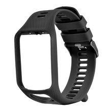 Silicone Square Watchbands Bracelet Strap Replacement TomTom 1 Multi-Sport GPS HRM CSS AM Cardio Runner Watch cheap ONLENY Passometer Sleep Tracker Call Reminder Dial Call Push Message Speed Measurement Blood Pressure Fitness Tracker Message Reminder