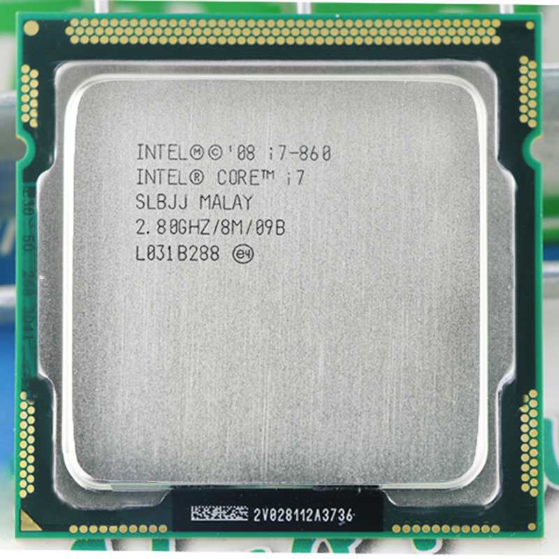 INTEL i7 860 i7-860 intel core i7 860 CPU i7 processor (Quad Core CPU 2.80GHz 8MB Sockel 1156 95W) Processor warranty 1 year image