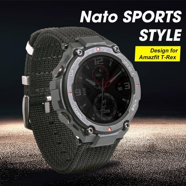 "2020 חדש נאט""ו ספורט סגנון שעון רצועת מיוחד עיצוב עבור Amazfit T רקס t rex Smartwatch"