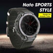 2020 新 nato スポーツスタイルの腕時計ストラップ amazfit ための特別なデザイン t レックス t rex スマートウォッチ