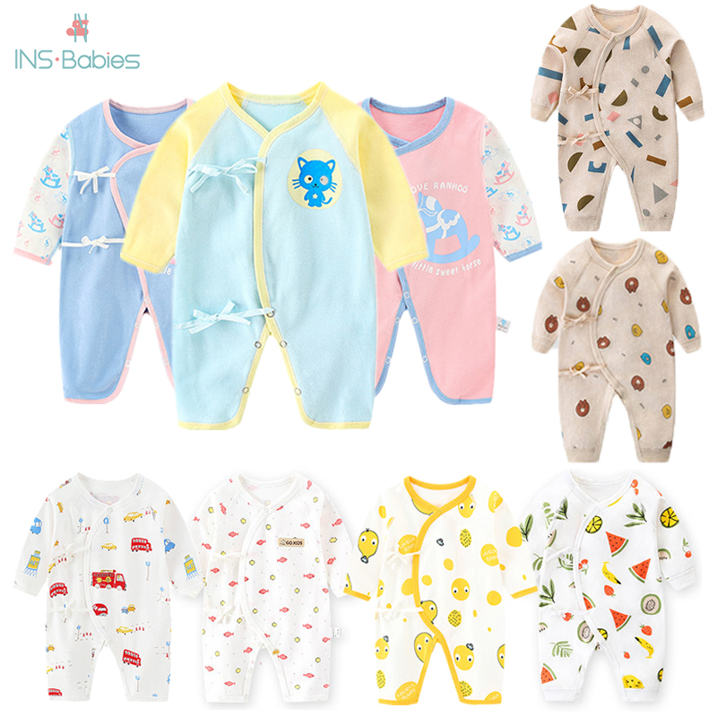 2020 Spring And Autumn Baby Clothes Cotton For Girl And Boy Newborn Baby Long Sleeve Romper Mother Kids Animal Climbing Pajamas