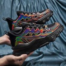 Женские повседневные кроссовки черная модная отражающая обувь