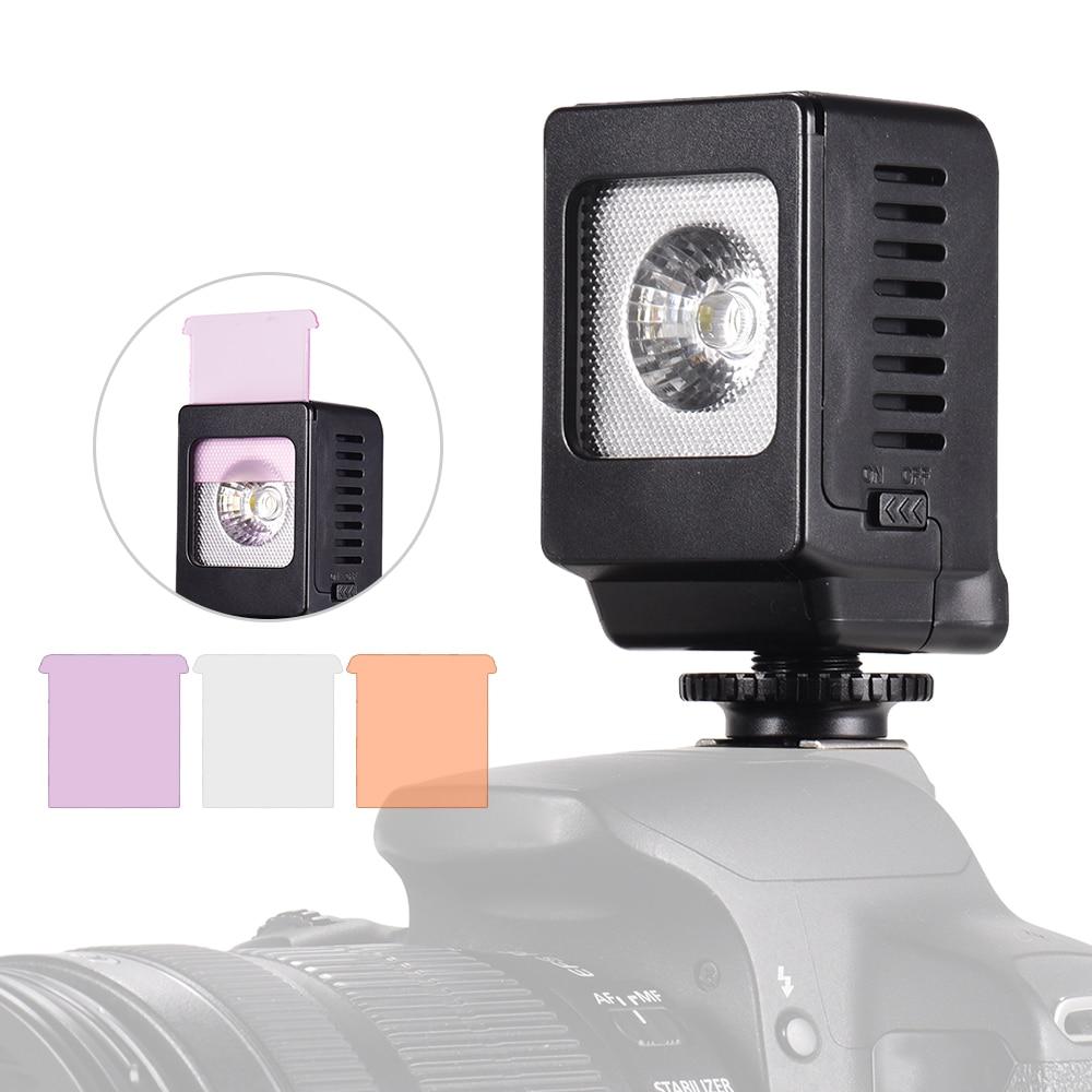 Светодиодная лампа с холодным башмаком 3 Вт и цветными фильтрами 3 шт.