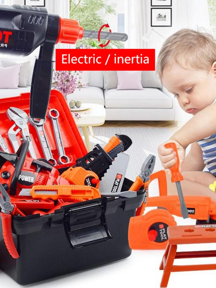 Children's Repair Tools Toy Power Workbench Construction Tool Bench Set For Boys And Girls Children's Toolbox Toy Set