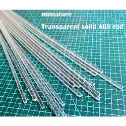 Miniatura ABS haste sólida Transparente DIY handmade material de modelo de mesa de areia de construção 5pcs