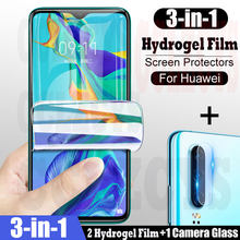 3 in1 Hydrogel Film de protection pour Huawei P30 Pro P40 P20 Lite Mate 20 P Smart Z 2019 protecteur d'écran pour Honor 10 9X 10i 30 S(China)