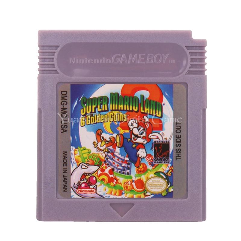 For Nintendo GBC Video Game Cartridge Console Card Super Mari Land 2 English Language Version