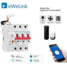 Disjoncteur intelligent WiFi 3P, commutateur automatique, surcharge de court Circuit, protection pour Alexa et Google home pour maison connectée