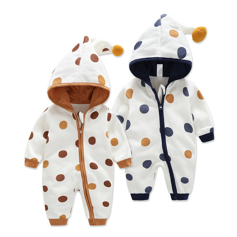 Fall And Winter Clothes Infant Double Layer Warm Onesie Men And Women Baby Jumpsuit Romper Newborns Casual Nursing Crawling Clot