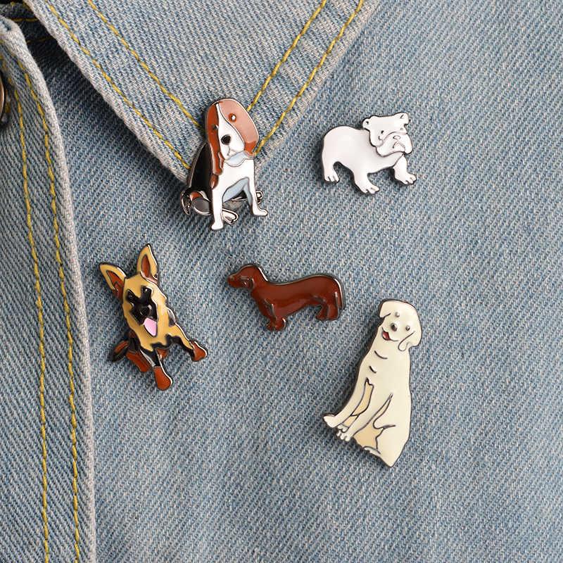 Различные милые собаки нагрудные булавки реалистичный стиль масляной живописи тинге броши значки рюкзак шпильки мультфильм ювелирные изделия подарки для друзей