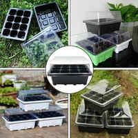 12 Cells Plastic Plant Nursery Pots Planting Seed Tray Kit Plant Germination Box for Gardening Plants Flowers
