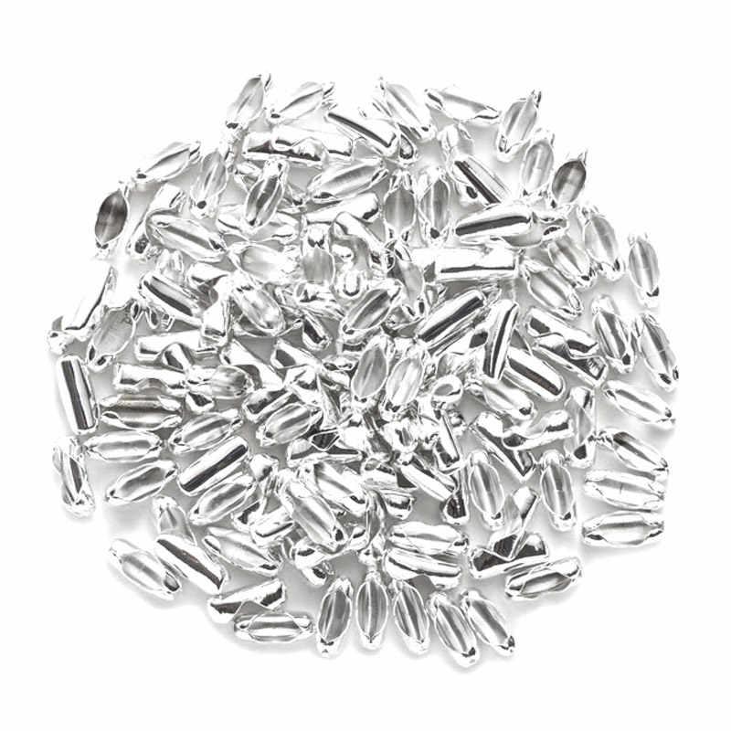 1.5-3.2mm Cores Cadeia De Bola Corrente De Metal Talão 200Pcs 6 Contas Finais Crimp Conectores Fechos Resultados Da Jóia fazendo DIY Acessórios