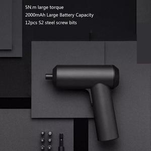 Image 4 - (In voorraad) Xiaomi Mijia Draadloze Oplaadbare Schroevendraaier 3.6V 2000mAh Li Ion 5N. m Elektrische Schroevendraaier Met 12Pcs S2 Schroef Bits