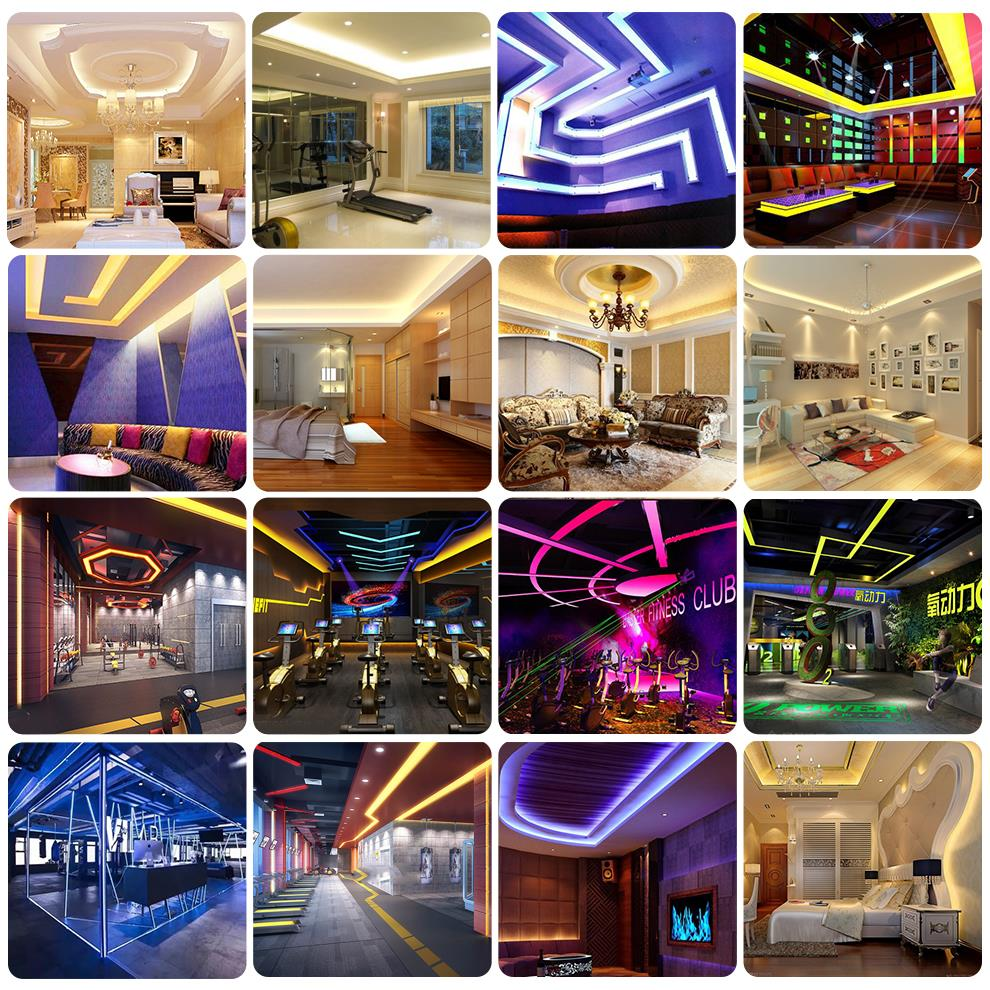 H6577619b7d664a979e58fcacbca296c2p 5050 LED Strip RGB / RGBW / RGBWW 5M 300LEDs RGB Color Changeable Flexible LED Light + Remote Controller + 12V 3A Power Adapter
