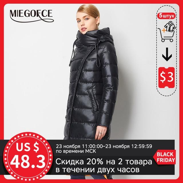 MIEGOFCE – Manteau long pour femmes, modèle à la mode, grande parka à capuche, rembourrée avec matériau bio, haute qualité, nouvelle collection d'hiver 2020 1