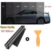 300x50cm 15% vlt preto matiz da janela do carro filme de vidro do carro auto casa janelas de vidro matiz filme rolo de proteção uv solar adesivo filme