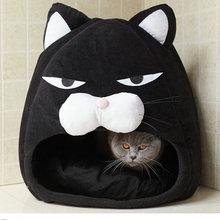 Foldable Cat Bed Warm Puppy Cat House Nest Soft Pet Sleeping Kennel Cartoon Cats Cave Waterproof Sleep Kitten Tent Pet Supplies