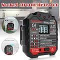 Tomada de soquete testador circuito polaridade tensão parede plug disjuntor finder com rcd/gfci fas6