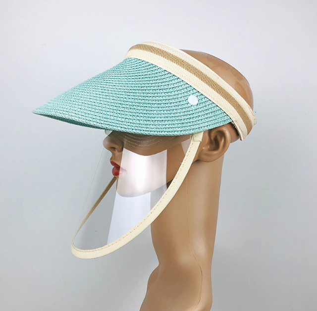 Anti Virus Sun Straw Hat Transparent Splash-proof Full Face Shield Mask Safe Protective Virus Protect anti Saliva Mask Shield 4