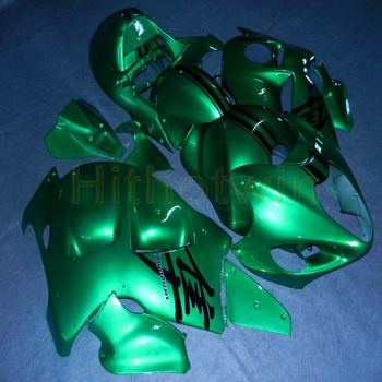 Custom motorcycle cowl for GSX-R1300 1997-2007 ABS plastic Fairing Injection mold green