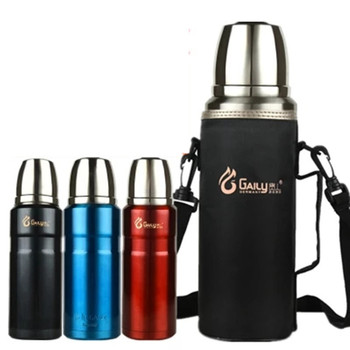 304 Stainless Steel Insulated Thermos 1L-2L Bullet Cup Travel Coffee Mugs Vaccum Water Bottle