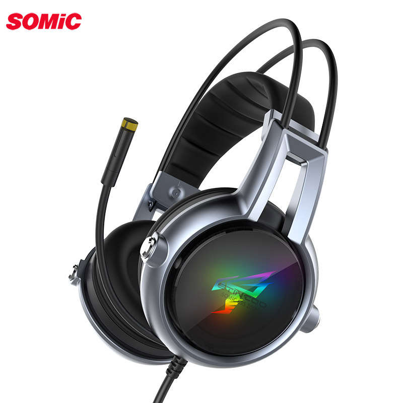Somic E95-20TH Gamer Headset Virtual 7.1 Stereo <font><b>Gaming</b></font> Headphones Vibration <font><b>Earphone</b></font> headphone <font><b>with</b></font> <font><b>Microphone</b></font> for PC Computer image