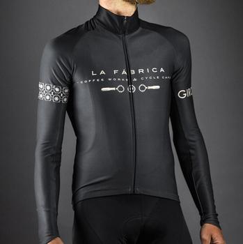 Ropa de ciclismo negra para hombre, camiseta de ciclismo de lana térmica,...